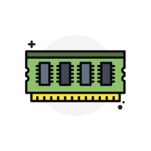 Computer component Ram concept Isolated Line Vector Illustration editable Icon