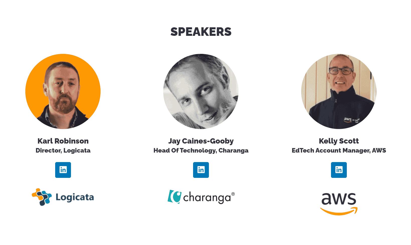 Logicata AWS Charanga Webinar Speakers